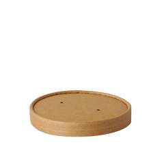 25 Deckel für Suppenbecher, Pappe pure rund Ø 11,5 cm · 1,6 cm braun 100% Fair