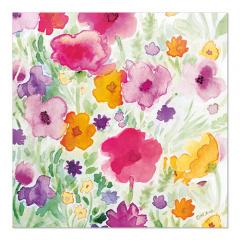 20 Servietten, 3-lagig 1/4-Falz 33 cm x 33 cm Flower Field