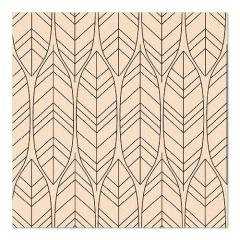 20 Servietten, 3-lagig 1/4-Falz 33 cm x 33 cm natur Löv aus recyceltem Papier