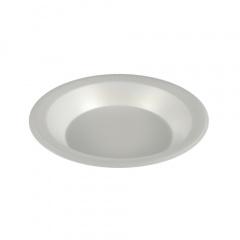 100 Schalen, EPS ungeteilt 750 ml Ø 22,5 cm 3,5 cm weiss , laminiert -B3-
