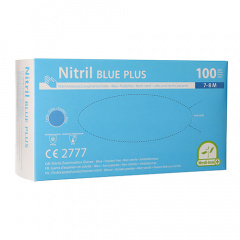 100 Medi-Inn® PS Handschuhe, Nitril puderfrei Blue Plus blau Größe M
