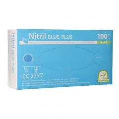 100 Medi-Inn® PS Handschuhe, Nitril puderfrei Blue Plus blau Größe L