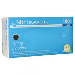 100 Medi-Inn® PS Handschuhe, Nitril puderfrei Black Plus schwarz Größe M