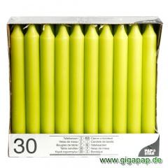 30 Tafelkerzen Ø 2,15 cm 19,6 cm limonengrün