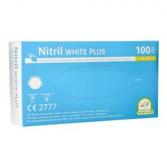 100 Medi-Inn® PS Handschuhe, Nitril puderfrei White Plus weiss Größe S