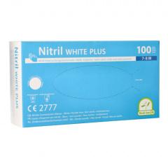 100 Medi-Inn® PS Handschuhe, Nitril puderfrei White Plus weiss Größe M